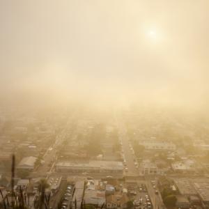 Contaminación en una ciudad